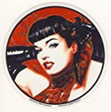 Aufkleber Betty Page With Gloves Sticker (Nr. 1358)